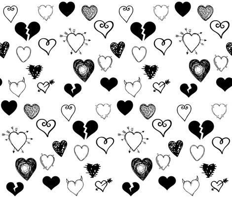 YOUR BREAKIN MY HEART fabric by bluevelvet on Spoonflower - custom fabric