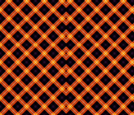 the simple orange slide check fabric by nascustomlife on Spoonflower - custom fabric