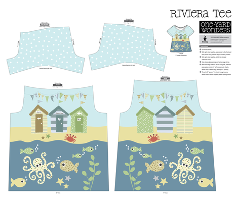 beach huts by the sea  fabric by valley_designs on Spoonflower - custom fabric