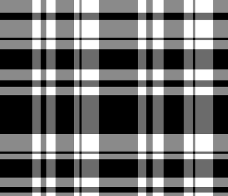 the simple BLK/WH check  fabric by nascustomlife on Spoonflower - custom fabric