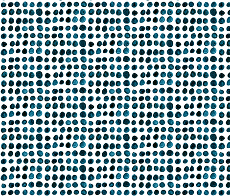 Cobalt Dots fabric by jessalinbeutler on Spoonflower - custom fabric