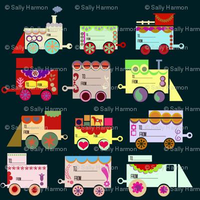 Dala Train: 12 Gift-tags