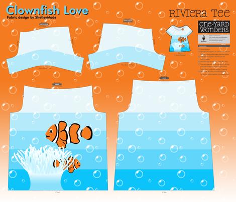 Clownfish Love - Riviera Tee fabric by shelleymade on Spoonflower - custom fabric