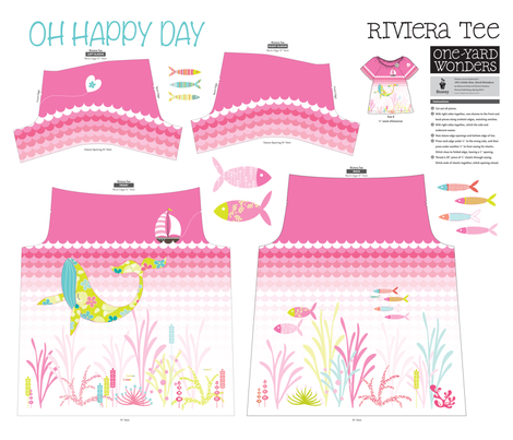 Oh Happy Day RivieraTee fabric by kayajoy on Spoonflower - custom fabric