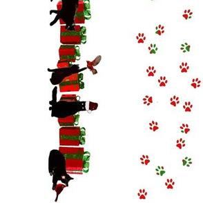 Black Cat Christmas Border