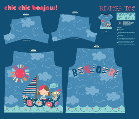 Chic Chic Bonjour! fabric by amel24 on Spoonflower - custom fabric