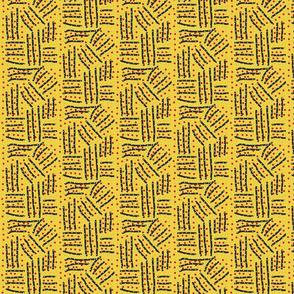 Plowed Fields on Yellow