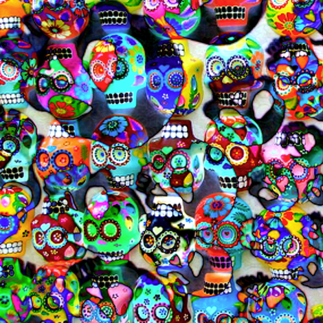 Sugar Skull Twirl fabric by whimzwhirled on Spoonflower - custom fabric
