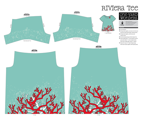 Fire Coral Riviera Tee fabric by yourfriendamy on Spoonflower - custom fabric