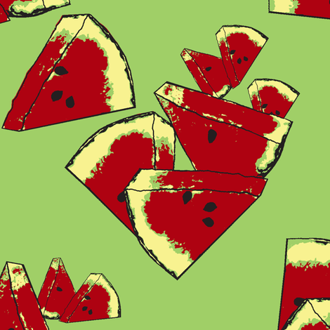 watermelon crunch fabric by nalo_hopkinson on Spoonflower - custom fabric
