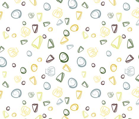 Sea Shells fabric by yewtree on Spoonflower - custom fabric