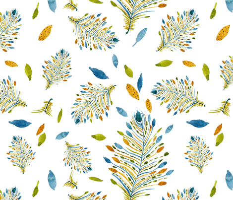 Fancy Feather Dance fabric by susan_magdangal on Spoonflower - custom fabric