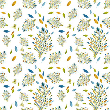 Feather Dance fabric by susan_magdangal on Spoonflower - custom fabric