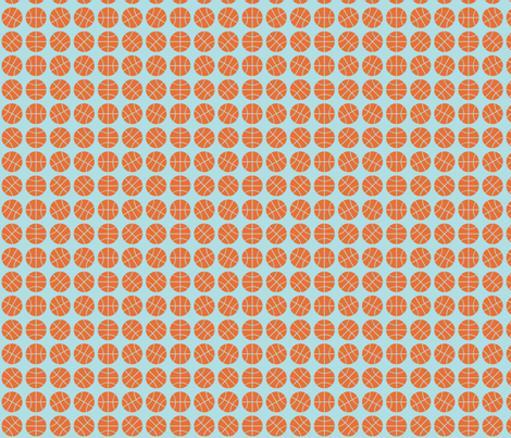 Basketball Lines fabric by audreyclayton on Spoonflower - custom fabric