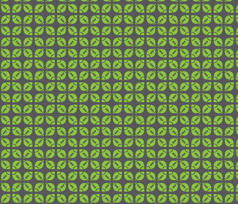Lime/Gray Football Flower fabric by audreyclayton on Spoonflower - custom fabric