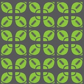 Lime/Gray Football Flower