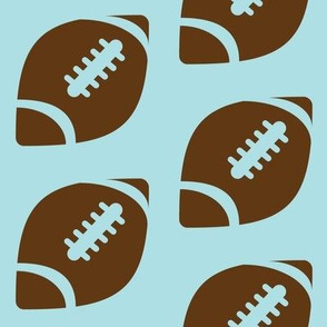 Half-Drop Brown Football