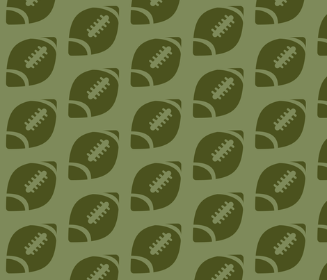 Half-Drop Green Football fabric by audreyclayton on Spoonflower - custom fabric