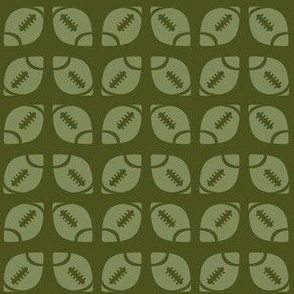 Green Football Ribbon