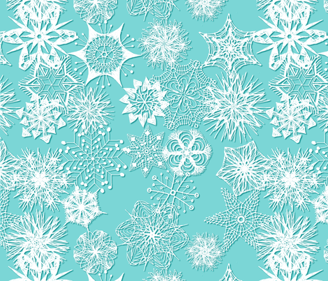Snowflakes fabric by wiccked on Spoonflower - custom fabric