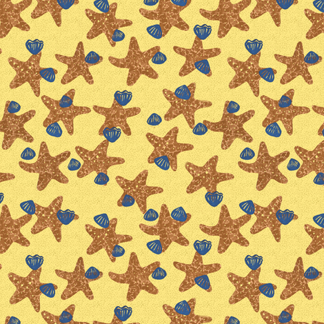 starfish fabric by zandloopster on Spoonflower - custom fabric