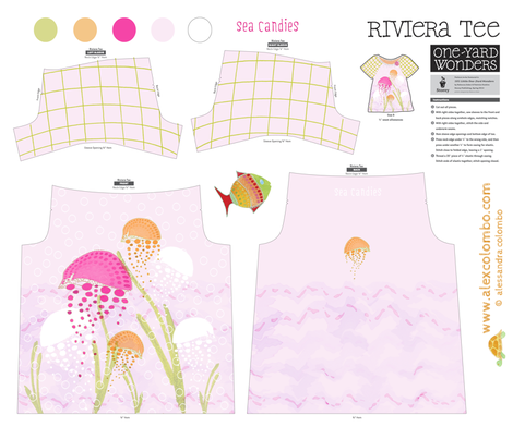 Sea Candies Riviera Tee | alexcolombo.com  fabric by studioalex on Spoonflower - custom fabric