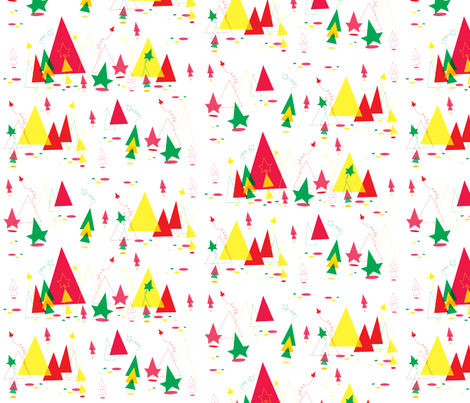 Christmas Triangle Fun fabric by cindysuen on Spoonflower - custom fabric