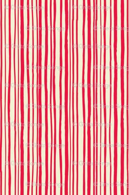Red Hand Drawn Stripe