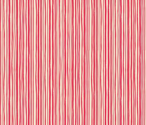 Red Hand Drawn Stripe fabric by gsonge on Spoonflower - custom fabric