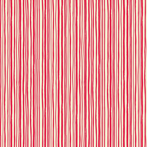 Red Hand Drawn Stripe