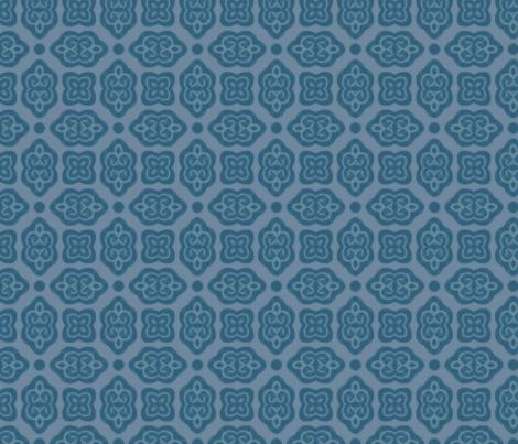 baroque scrolls blue fabric by firemonkey on Spoonflower - custom fabric