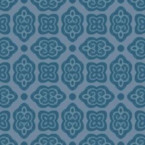 baroque scrolls blue
