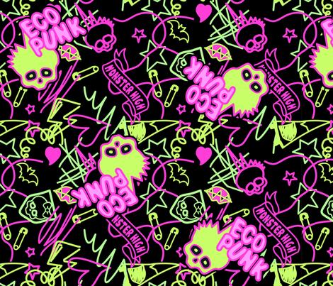 Venu Shirt Pattern Neon fabric by ani_bee on Spoonflower - custom fabric
