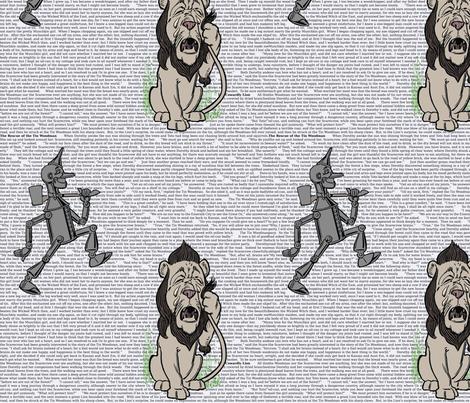 Wonderful Wizard of Oz (Woodsman & Lion) fabric by studiofibonacci on Spoonflower - custom fabric