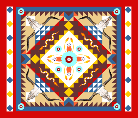 Wild_West_Quilt fabric by dehaan_designs on Spoonflower - custom fabric