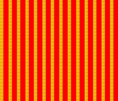 coreopsis_stripe fabric by koalalady on Spoonflower - custom fabric