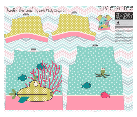 Under the Sea Tee fabric by littlerhodydesign on Spoonflower - custom fabric