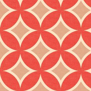 MOD CIRCLE TILE - coral linen