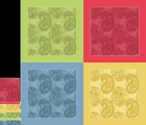 "Paisley Napkin Set (17"" hemmed) fabric by penina on Spoonflower - custom fabric"