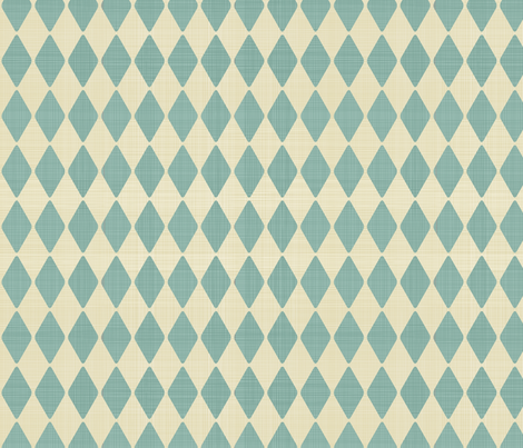 harlequin retro pattern in blue and dirty beige fabric by anastasiia-ku on Spoonflower - custom fabric