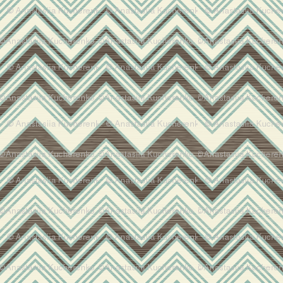 large scaled zigzag pattern