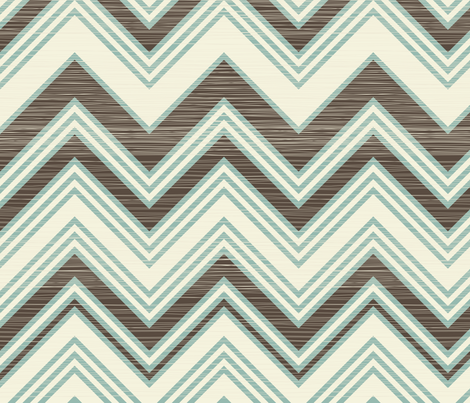 large scaled zigzag pattern fabric by anastasiia-ku on Spoonflower - custom fabric