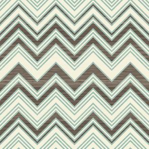 large scaled zigzag pattern