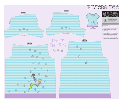 Under The Sea! Girls Riviera Tee!!! fabric by pattyryboltdesigns on Spoonflower - custom fabric