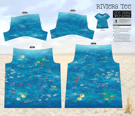 Lagoon on a Riviera Tee fabric by forest&sea on Spoonflower - custom fabric