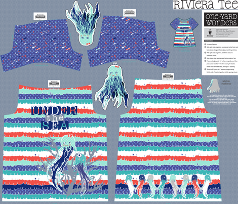 Riviera tee  fabric by katarina on Spoonflower - custom fabric