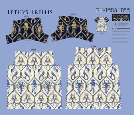Tethys Trellis Tee fabric by ceanirminger on Spoonflower - custom fabric