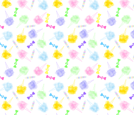 Cotton Candy fabric by loopy_canadian on Spoonflower - custom fabric