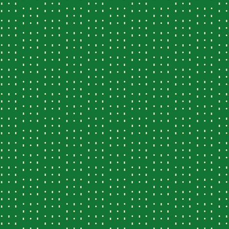 Emerald_dash_dot_wider fabric by jennyf on Spoonflower - custom fabric