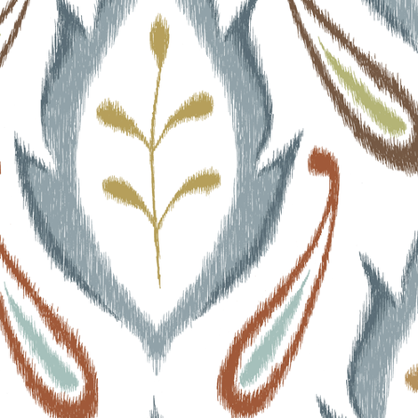 Autumn Ikat fabric by pattysloniger on Spoonflower - custom fabric